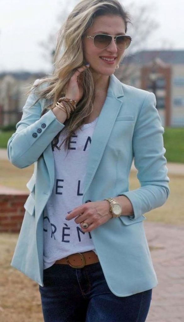 blazer - trendy casual spring outfit ideas