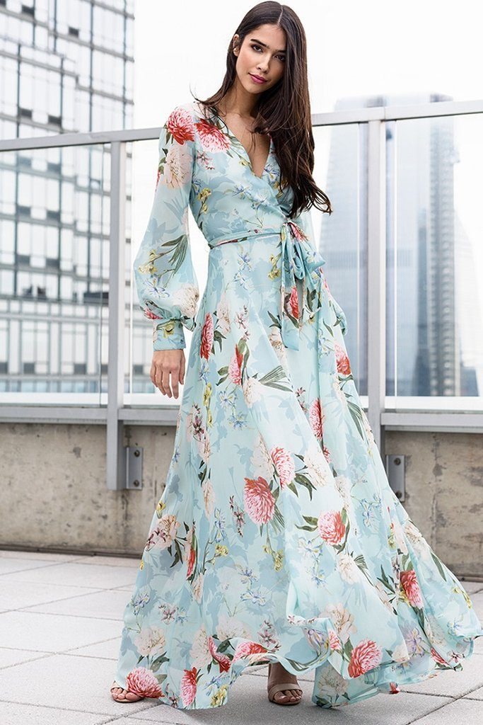 maxi dress - stylish spring outfit ideas