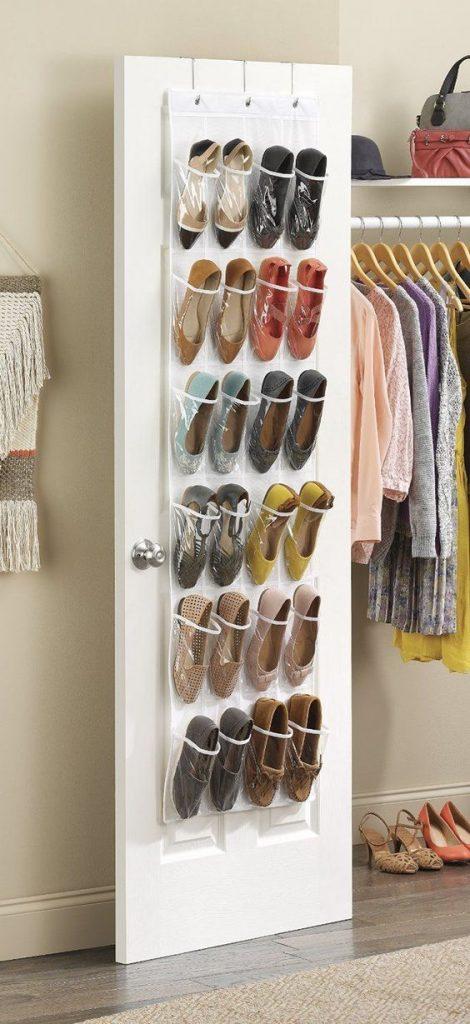 over the door pockets shoe organizer