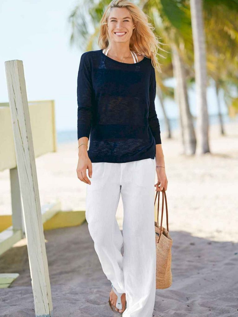linen pants cute summer outfits