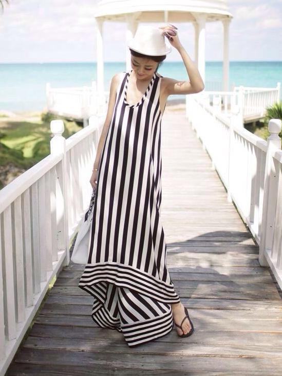 striped dress cute and casual summer outfits