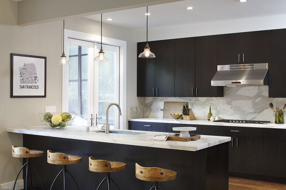 classic black kitchen cabinets