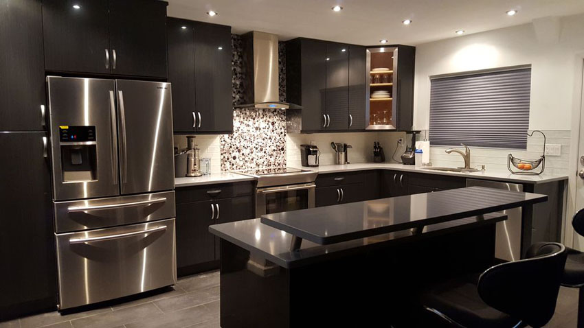 smart black kitchen cabinets