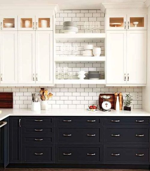 cute  black kitchen cabinets