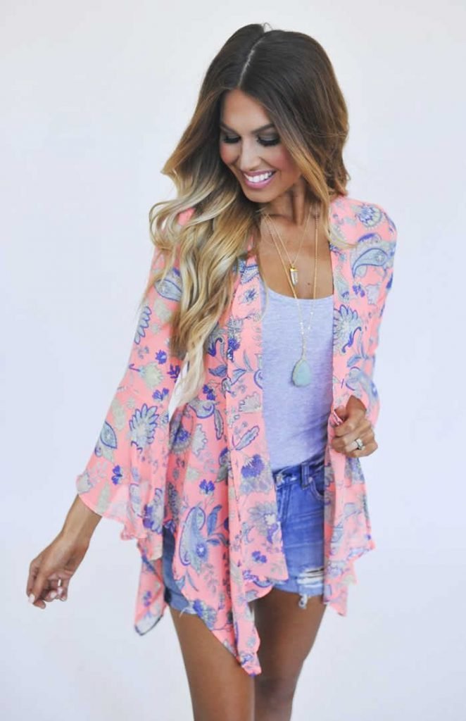 cute and casual summer outfits kimono