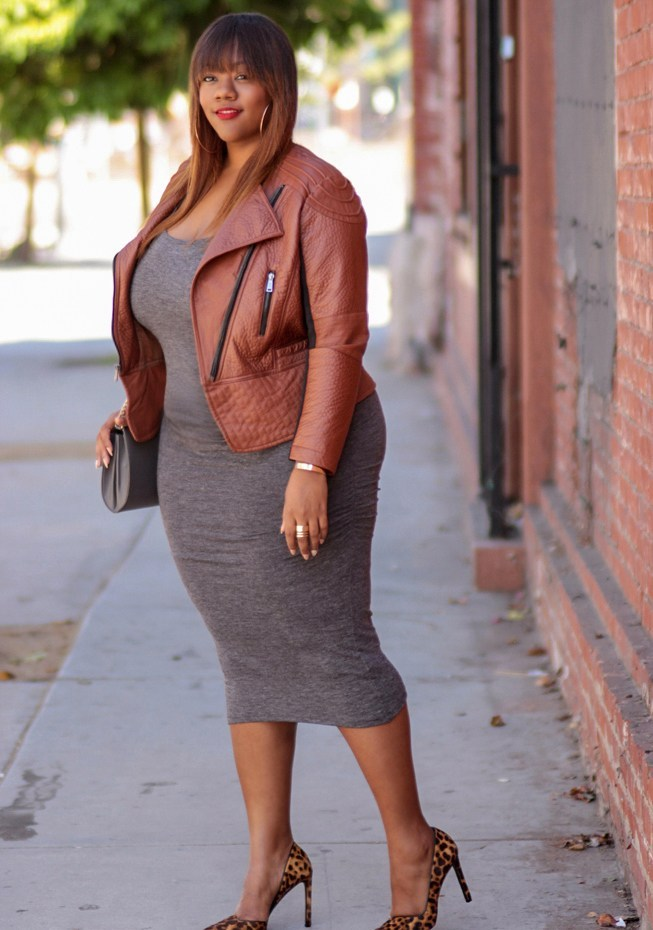 Trendy plus size clithing Bodycon dress