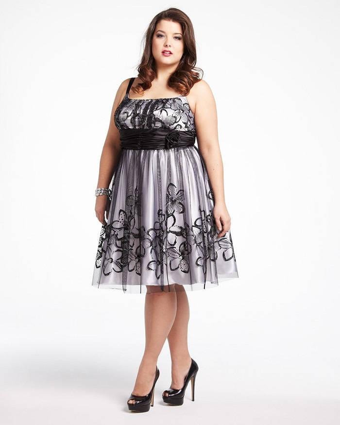 plus size womens trendy clothing Skater dress