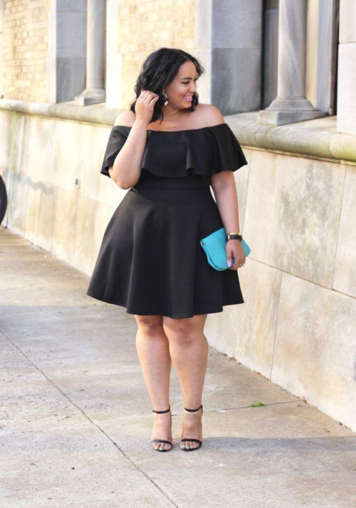 Plus size outfit ideas little black dress