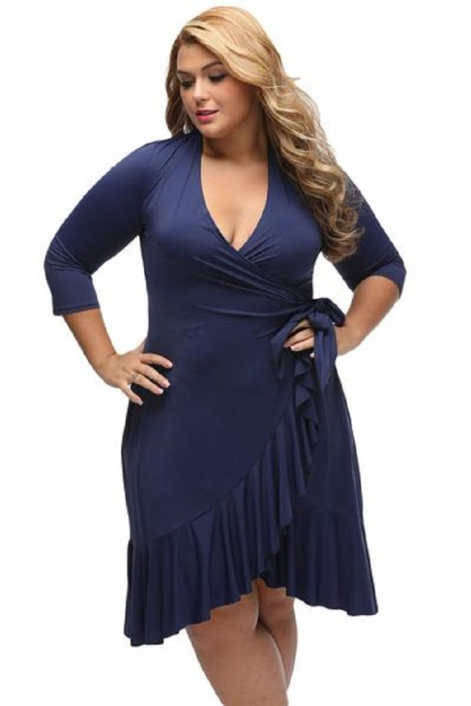 Plus size clothing Wrap dress