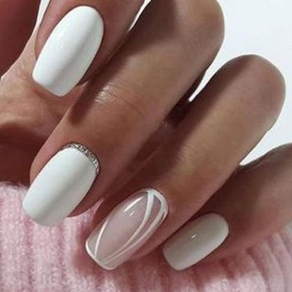Classy White Nail Designs