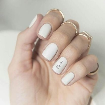 Simple White Nail Designs